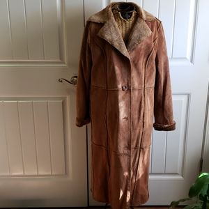 Bagatelle suede full length coat